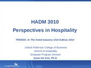 2014 Trends in the hotel industry USA edition 2014