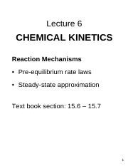 Chemical Kinetics And Mechanism Pdf