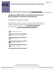 Integrated FAHP ARAS F and MSGP methods for green supplier evaluation and selection.pdf