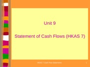 Unit 9 - Cash Flows (Revised)