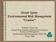 Ocean Spray Environmental Risk Management Large group