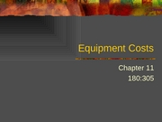 305chap11EquipmentCosts