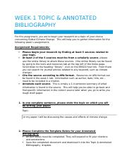 Week 1 Annotated Bibliography template -- maura