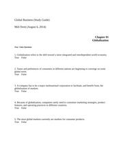 Global Business quiz1 study guide dec14