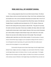 Rise And Fall of Ancient Ghana
