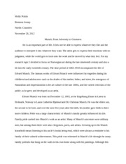 Final Essay-Munch From Adversity to Greatness
