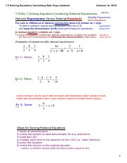7.5 Solving Equations Containing Ratn Exp