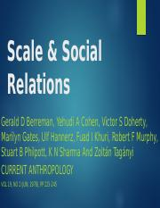 Berreman Scale and Social Relations.pptx