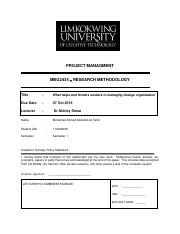 Research Methodology Assignment (I) - Mohamed Al-Tahiri 110046068