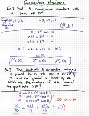 Numbers Quadratic Wordproblem Notes