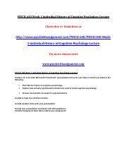 PSYCH 640 Week 1 Individual History of Cognitive Psychology Lecture.doc