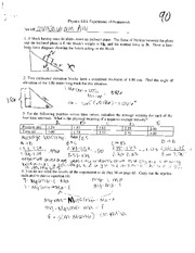Physics Lab Homework 10