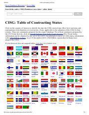 CISG Participating Countries