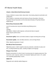 NRS 340 ATI Mental Health 1-4 book notes