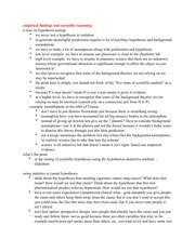 empirical findings and scientific reasoning Notes