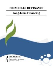 LONG TERM FINANCING