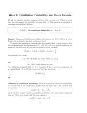 Conditional Probability and Bayes formula