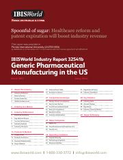 32541B Generic Pharmaceutical Manufacturing in the US Industry Report.pdf