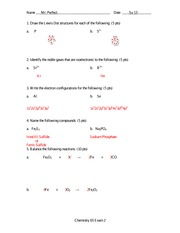 Exam 2 Solution Summer 2013 on General Chemistry