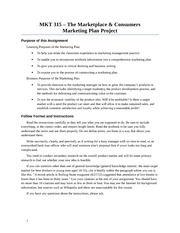 Marketing Plan Instructions Spring 2013(2)