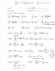 Solutions to some homeworks 510.pdf