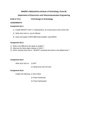 VLSI class Assignments 3 to 6