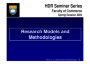 Research Models and Methodologies