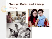 FAMILY DEVELOPMENT (Gender Roles and Power)