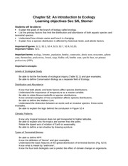 Chapter 52 Learning Objectives