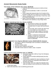 Ancient Monuments Study Guide