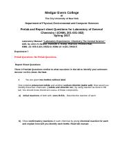 CHML 201-001-002-Expt-7-Prelab- Report-Postlab-questions-Springl 2017.doc