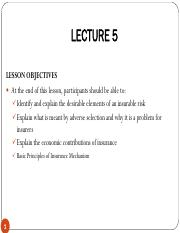 Lecture 5 - Insurability of Risk and Benefits of Insurance Mechanism.pdf