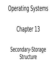 (ch13)Secondary-Storage Structure