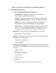 Chapter 5 (The Structure and Function of Large Biological ...
