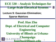 ECE530 Fall 2014 Lecture Slides 9