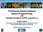 Lecture 8 -  Partitioned Global Address Space Programming with Unified Parallel C