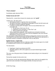 Business Income-notes