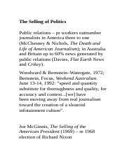 The Selling of Politics - lecture notes.docx