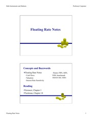 Floating Rate Notes Lecture