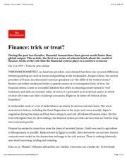 The Economist - Finance Trick or Treat