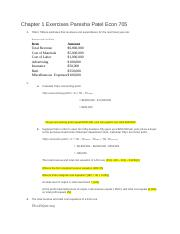 Chapter 1 Exercises Paresha Patel Econ 705.docx.docx