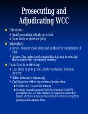 Lecture 9 Prosecuting and Adjudicating WCC