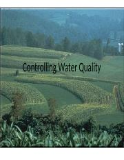 Lecture20 - Controlling Water Quality