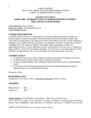 Adms1000 course outline fall 2014