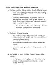 Living on Borrowed Time Social Security Notes