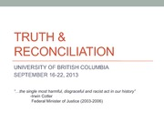 Truth&ReconciliationSpecialEventLecture