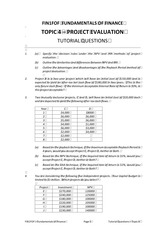 FOF Topic 4 Tutorial Questions