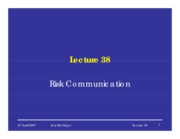 38 Risk Communication