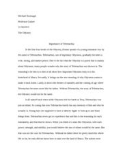 telemachia essay Telemachia essays essay about my self description, art 16 ddhc dissertation writing luke a new essay in a few hours @salon on donald trump, white victimology, and.
