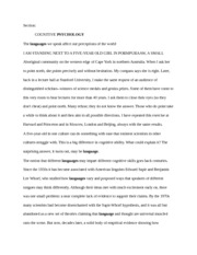 Honors Bilingual Communities Article for Group Talk